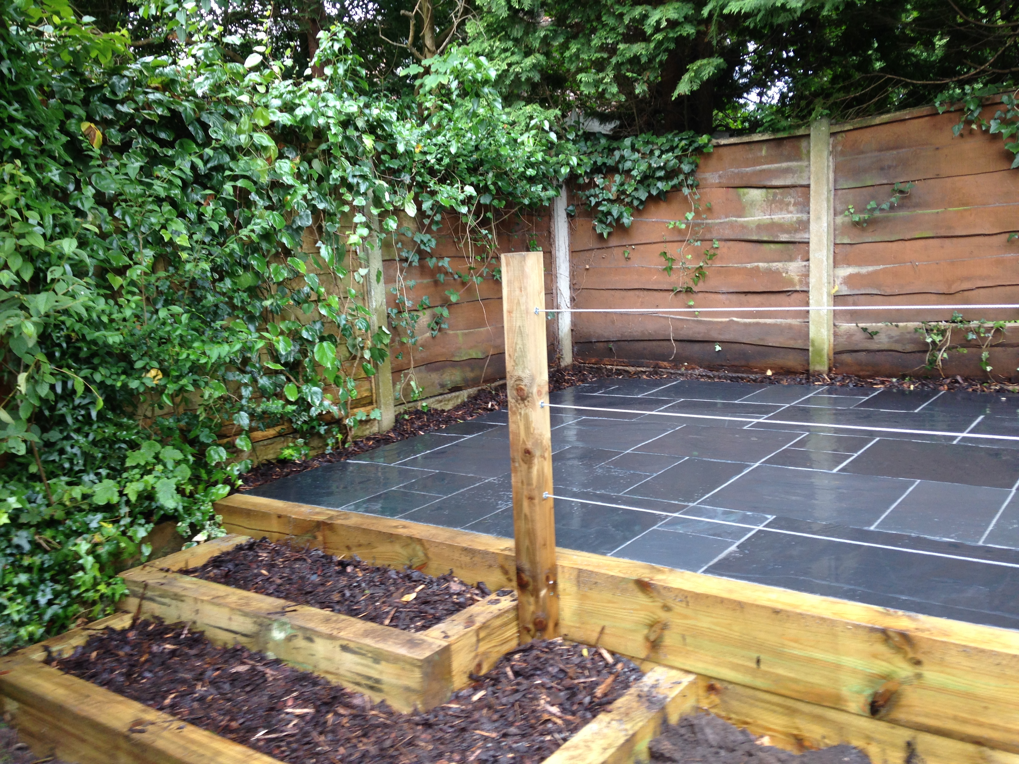 how to build a raised patio uk