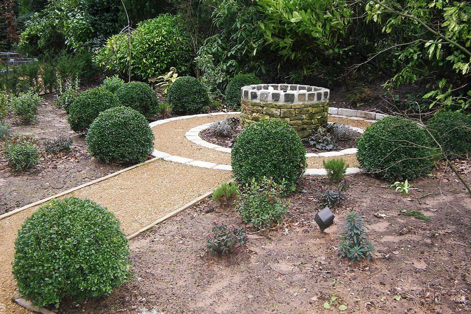 Morris ball landscaping design build for Sphere garden design